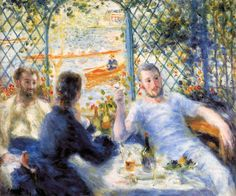 The Canoeists' Luncheon by Pierre-Auguste Renoir • 1880 • oil on canvas • Art Institute of Chicago, Chicago, USA