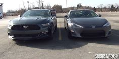 Size Comparison: 2015 Mustang and Scion FR-S