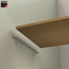 Invisible fixing wall bracket specially designed to fix your work plans either against a wall or on a piece of furniture. Diy Wood Shelves, Shelving, Hexagon Shelves, Home Office Decor, Home Decor, Wall Brackets, Diy Wood Projects, Diy Furniture, Interior Design