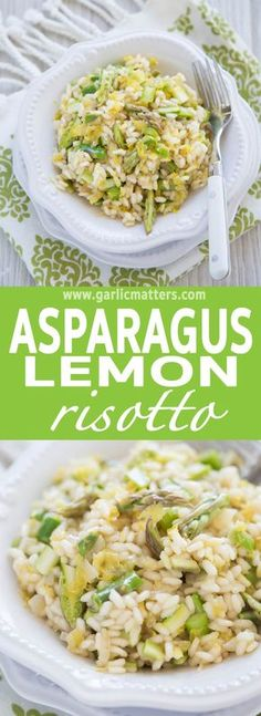 Healthy Asparagus Lemon Risotto recipe is simply delicious and really easy to make - perfect Spring or Summer lunch or dinner idea. It is a clean, vegetarian and gluten free dish which takes only 40 min to prepare. Who would have thought that healthy food could be as simple and yummy as this!