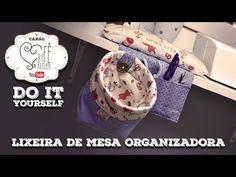 DIY ::: Lixeira de Mesa Organizadora - By Fê Atelier - YouTube