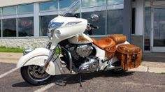 This is a 2014 Indian Chieftain that I sold and my customer took delivery today. Normally, the factory colors are Thunder Black, Springfield Blue and INDIAN MOTORCYCLE® RED.. This was taken apart, painted and reassembled by Indian Twin Cities. Please, call me for your motorcycle, paint and custom needs. Jay Johnson
