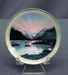 Vintage Norway Kristian Hestenes Sterling Silver Luminiscent Scene Dish   eBay