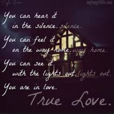 You are in love.