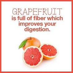 Struggling with digestion problem? Grapefruit is full of fiber which helps improve your digestive flow. Food Quotes, Food Facts, Diet And Nutrition, Eating Well, Grapefruit, Natural Health, Health And Wellness, Improve Yourself, Healthy Lifestyle