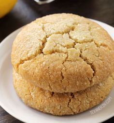 Paleo Lemon Cookies from Texanerin Baking