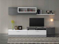 Mueble sala VENTO-702 781€. Wall Unit Designs, Tv Unit Design, Tv Wall Design, Tv Furniture, Entertainment Furniture, Furniture Design, Tv Wall Cabinets, Tv Cabinet Design, Modern Tv Wall Units