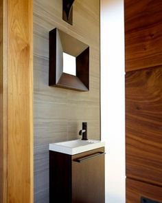 Powder Room - contemporary - powder room - love the lines