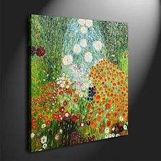 Farm Garden Oil Painting by Gustav Klimt  Free Shipping