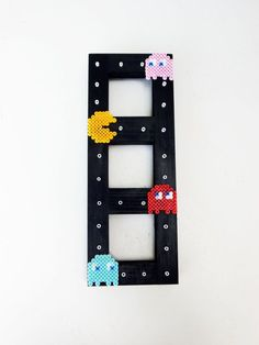 Home decor Retro Picture Frame Perler Bead video game Character art Photo Frame wall art Gift Idea Fun geek Picture Frame photo frame pacman