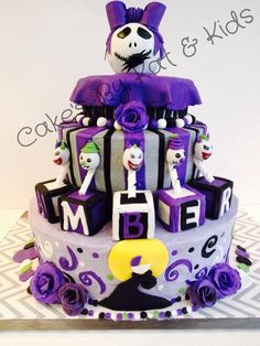 Amazing Custom Baby Girl Jack Nightmare Before Christmas Baby Shower Cake  Facebook.com/cakesbykatcassandra