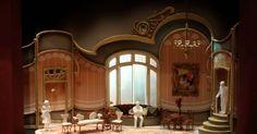 """Die Fledermaus. 1/4"""" - Die Fledermaus. 1/4"""" scale model. University of Maryland. Scenic design by Paige A. Hathaway. 2014 --- #Theaterkompass #Theater #Theatre #Schauspiel #Tanztheater #Ballett #Oper #Musiktheater #Bühnenbau #Bühnenbild #Scénographie #Bühne #Stage #Set"""