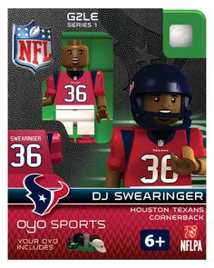 OYO Sports   NFL Generation 2 OYO minifigures   Houston Texans: D.J. Swearinger
