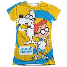 """Checkout our #LicensedGear products FREE SHIPPING + 10% OFF Coupon Code """"Official"""" Mr Peabody & Sherman/explanation -s/s Junior Poly T- Shirt - Mr Peabody & Sherman/explanation -s/s Junior Poly T- Shirt - Price: $24.99. Buy now at https://officiallylicensedgear.com/mr-peabody-sherman-explanation-s-s-junior-poly-t-shirt-licensed"""
