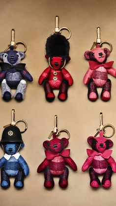 Fuchsia pink Thomas Bear Charm in Check Cashmere - Image 3 Burberry Bear, Burberry Gifts, Burberry Handbags, Couture Accessories, Fashion Accessories, Car Accessories, Leather Workshop, Check Fabric, Leather Jewelry