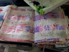 Art Journal Altered Book Technique - Masking Tape