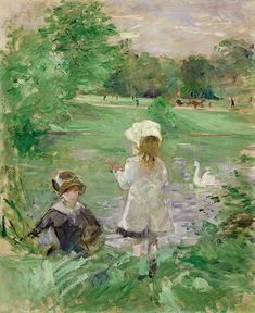 "Berthe Morisot (1841-1895) - ""Au bord du lac"" - Huile sur toile - http://www.marmottan.fr/fr/Berthe_Morisot-musee-2518 - http://www.museothyssen.org/microsites/prensa/2011/Berthe-Morisot/Listado%20de%20obras%20Berthe%20Morisot.pdf - http://www.mecd.gob.es/cultura-mecd/areas-cultura/principal/novedades/museos/2011/berthe-morisot.html"
