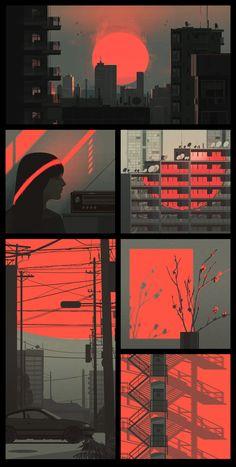 (notitle) - Graphic Design and Illustration Inspiration - Kunst Art And Illustration, Design Graphique, Art Graphique, Psychedelic Art, Graphisches Design, Pop Art Design, Light Design, Illustrator, Aesthetic Art