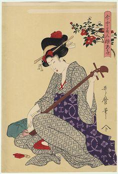 Camellia by Utamaro (1750 - 1806)