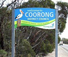 Coorong Entrance sign / Danthonia Designs
