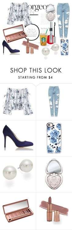 """""""Coconing' look"""" by isaline-de-soie on Polyvore featuring mode, Topshop, L.K.Bennett, Casetify, AK Anne Klein, Too Faced Cosmetics, Urban Decay et Christian Dior"""