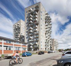 All balconies for Katrinebjerg in Aarhus cast in UHPC Aarhus, Balcony, Concrete, Multi Story Building, Villa, It Cast, Balconies, Fork, Villas