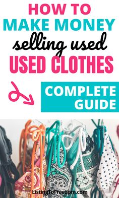 Make Money Fast, Make Money From Home, Selling Online, Selling On Ebay, Selling Used Clothes, Best Clothing Brands, Money Making Crafts, Where To Sell, Quick Cash