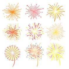 Fireworks vector illustration by TopVectors on @creativemarket