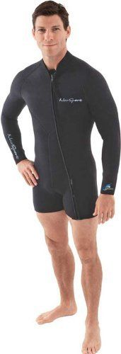 NeoSport Wetsuits Men's Premium Neoprene 5mm Step-In Jacket, Black, X-Large…