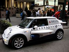 Delta Airlines Mini Cooper- yes it's not an airplane ,but it is adorable!