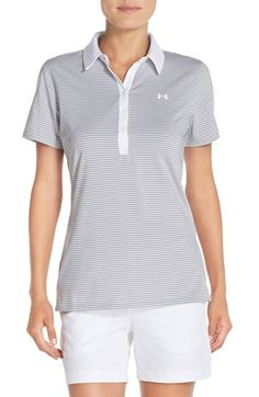 Under Armour 'Zinger' Stripe Polo available at #Nordstrom