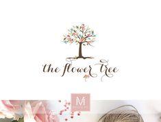 Floral Logo ,Tree Logo, Decor Logo, Florist Logo, Photography Logo, Boutique Logo ,Shabby Chic Logo, Watermark
