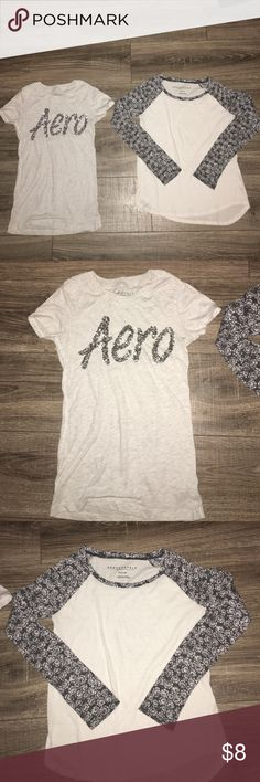 Aeropostale Shirt Bundle Aeropostale Shirt Bundle- Size XSmall: EUC. These shirts were maybe worn once. They do not have any tears or stains. They come from a smoke free home. Aeropostale Skirts
