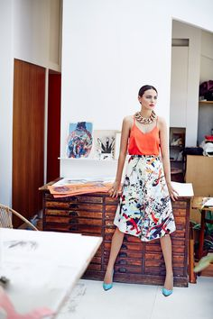 Olivia Pires for VIVA! Magazine by Piotr Stoklosa