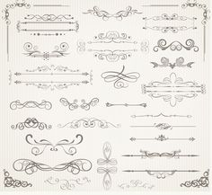 free vector Retro frames and scrolls