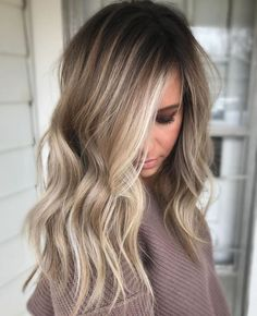 70 flattering balayage hair color ideas for 2018 - best .- 70 flattering balayage hair color ideas for 2018 color - Bronde Balayage, Ash Blonde Balayage, Brown Blonde Hair, Cool Toned Blonde Hair, Wavy Hair, Blonde Brunette Hair, Babylights Blonde, Balayage Long Hair, Full Balayage