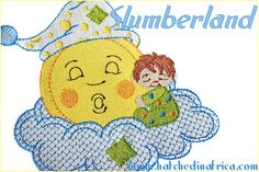 Slumberland - Baby machine embroidery designs - HatchedInAfrica.com | Product Details