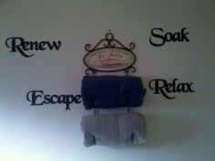 "Bath Set Words Renew Soak Escape Relax Metal Wall Art Home Decor by JNJ Metalworks. Save 33 Off!. $40.00. High Quality Steel Construction. Rust Resistant Paint. Other Color Options Available. Handmade in the USA. Custom Orders Available Contact Us For Details. Metal Wall Art Decor Bath Set Words  Renew:   13"" X 4"" Soak:     10"" X 4"" Escape:  13"" X 5"" Relax:    11"" X 5""  These Are Made From a solid piece of High Quality Steel, and are Painted with a rust resistant finish. The i..."
