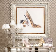 Love this...esp the leopard pumps print