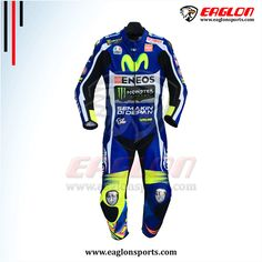 Description Valentino Rossi Yamaha Movistar Motogp 2016 Leather Race Suit is designed for professional bikers to show their love toward him and YamahaBike on the track. This suit is made of Cowhide leather with thickness of 1.2-1.3 mm and Schoeller Kevlar Fabric for complete safety and comfort of rider. There is certified carbon inserted external …
