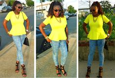 Outfit of the Day: Yellow Top + Floral Denim - www.yannid.net #fashionblog #styleinspiration #ootd #neon #yellow #oldnavy #forever21
