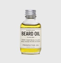 Burrough's Beard Oil - The woodsy, earthy scent of this beard oil brings together the solitary notes of nature and craftsmanship.  Its very hardy, masculine fragrance works well with the rugged scruff left behind after a lazy summer's week of no shaving to the full-grown winter's beard. In addition to smelling great, the oils also help to moisturize surface skin and condition follicles.