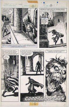John Buscema Savage Sword of Conan 79 Page 18 Original Comic Art Graphic Design Illustration, Illustration Art, Conan Comics, John Buscema, Conan The Barbarian, Comic Drawing, Black White Art, Manga Pages, American Comics