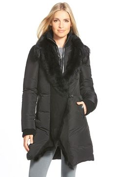 Mackage Long Down Coat with Genuine Toscana Shearling Trim available at #Nordstrom