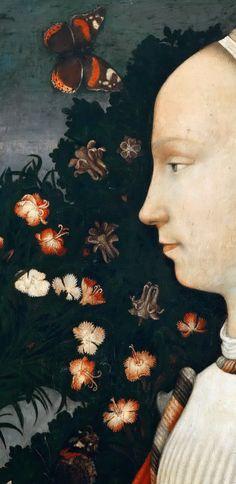 .:. Pisanello (c. 1395-c. 1455) detail from - Portrait of an Este Princess