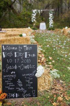Fall Farm Wedding Sign