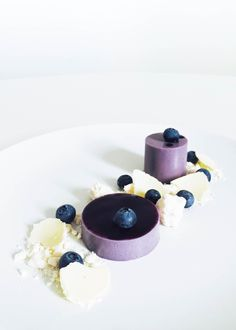 Blueberry & Violet Panna Cotta with Meringue and White Chocolate | My French Chef