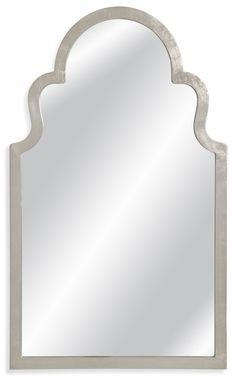 Mina Antiqued Silver Leaf Wall Mirror