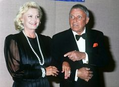 Singer and actor Frank Sinatra with his wife Barbara circa 1993