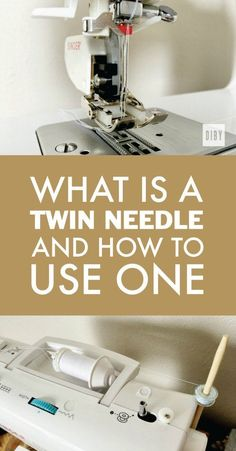 Learn What a Twin Needle is And How You Can Use One to Make Your Knit Apparel Look Professional. All Part of The Beginner's Guide to Sewing Knit Apparel.
